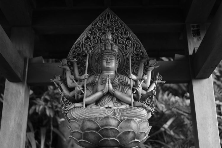 Buddhist Temple Hands Temple Statue Sculpture Human Representation Religion Spirituality Place Of Worship No People Day Close-up Outdoors