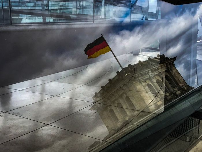 "The Reichstag"" Berlincity Berlin, Germany  Reichstag Berlin Reichstagsgebäude Reichstag Berlin Photography Berlin Flag Building Exterior Cloud - Sky Sky City Patriotism Day Architecture Building Glass - Material Reflection"