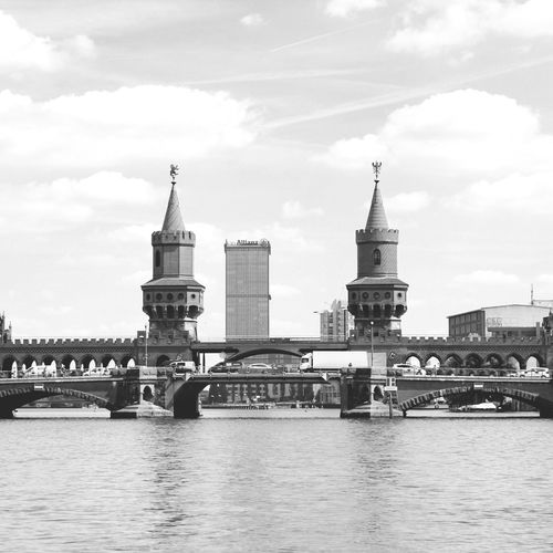 Oberbaumbrucke bridge across Spree River -Berlin