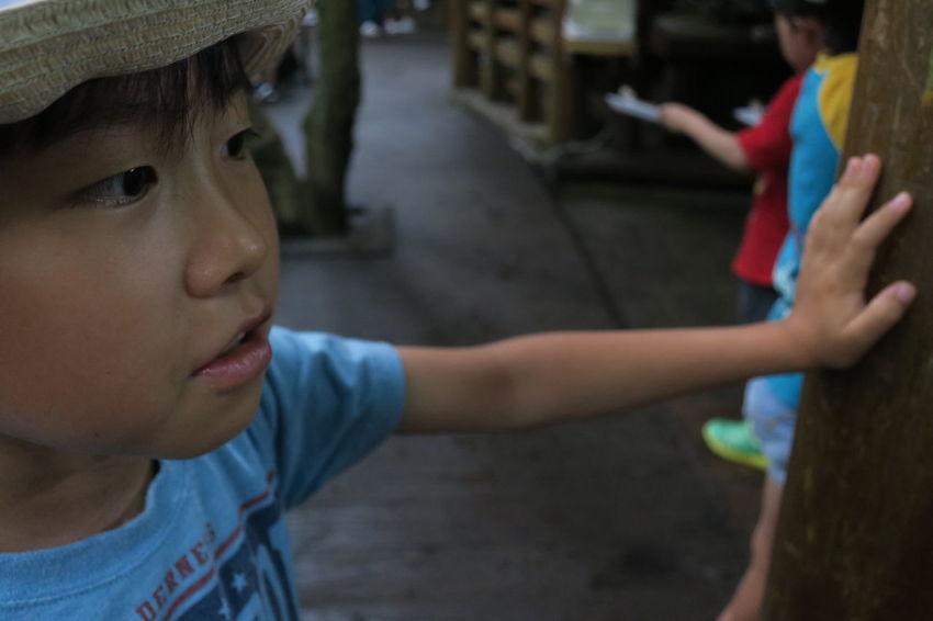 Child Portrait Son Outdoor 川魚 塩焼き Powershot G9 Ehime,Japan Ehime