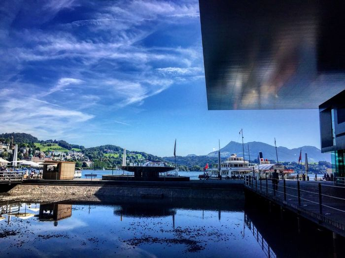 In front of Lucerne Culture and Congress Centre EyeEm Best Shots IPhoneography EyeEm Gallery Eyeem Switzerland EyeEmSwiss Lucerne Switzerland Hello World Lucerne Culture And Congress Centre KKL Lucerne Light And Shadow Light And Reflection
