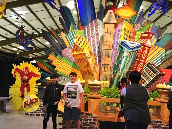 At The Fair Flash! Men Women Standing Real People Group Of People Architecture Building Exterior Day Outdoors Adult Adults Only Spider-man Super Heroes  Rethink Things