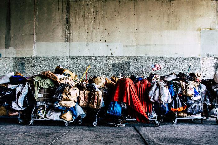 #poverty Homeless La USA USA Flag,