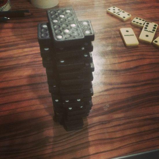 100happydays Day15 Domino Tower
