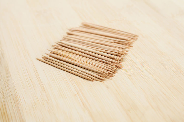 Teething Close-up High Angle View No People Sharp Toothpicks Wood - Material Wooden Texture