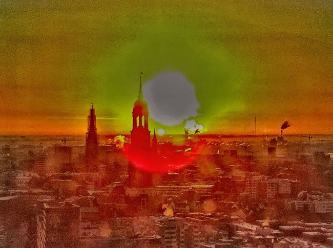 Good Morning! Sunshine ☀ Hamburg Cityscape Orange Sunrise Moody Sky Morning Sun Morning Light Jopesfotos - Urban