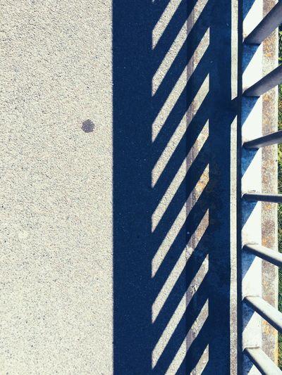 Shadow Shades Of Grey Sunshine Sunshine Day Natural Light Natural Light Photography Bridge Railing Stripes Pattern Striped Pattern Pattern Patterns Patterns Everywhere Pattern Photography