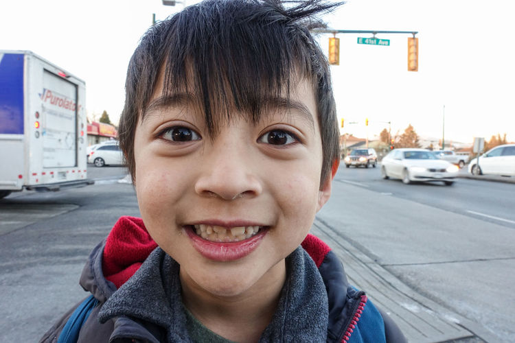 Little boy portrait Closed Up Shot Asian Kid Boy Child Childhood Children Only City Close Up Close-up Day Kidsphotography Looking At Camera Messy Face One Person Outdoor Outdoors People Portrait Smiley Face Smiling Street