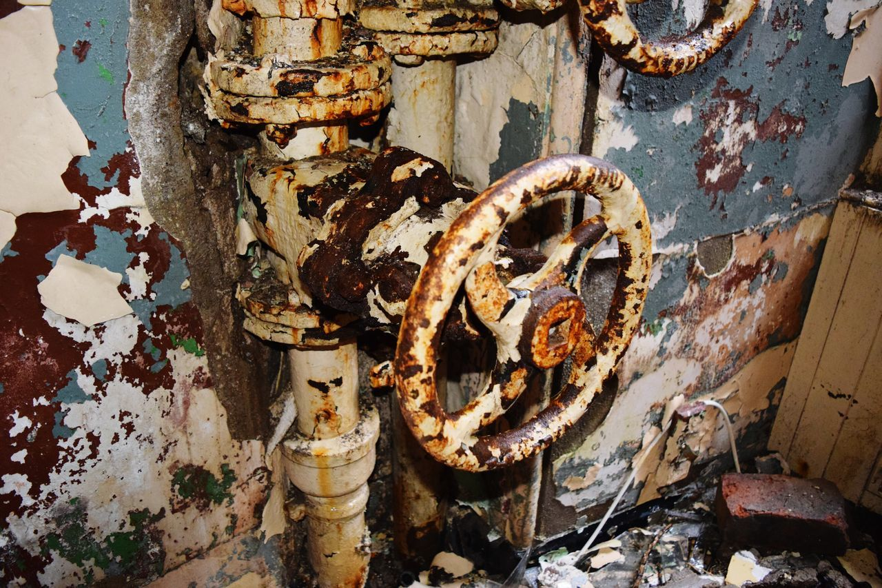 Close-Up Of Old Rusty Valve