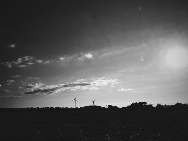 Blackandwhite Peace And Quiet Black And White Sky Nature From My Point Of View Beautiful Home Silhouette Landscape