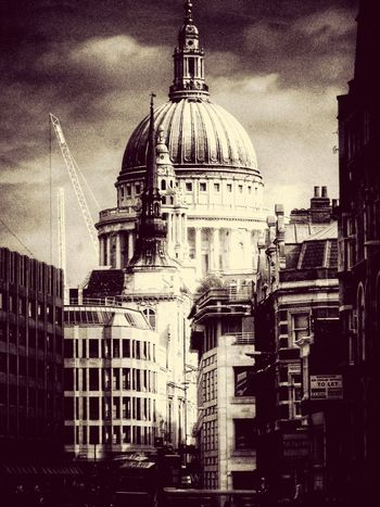 London Skyline StPaulscathedral Vintage