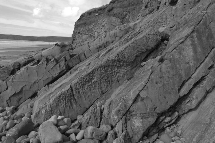 Pembrokeshire Black And White Blackandwhite No People Out For A Walk Outdoors Coast Beauty In Nature Beach Pembrokeshire Coast Newgale Rock Formation Rock