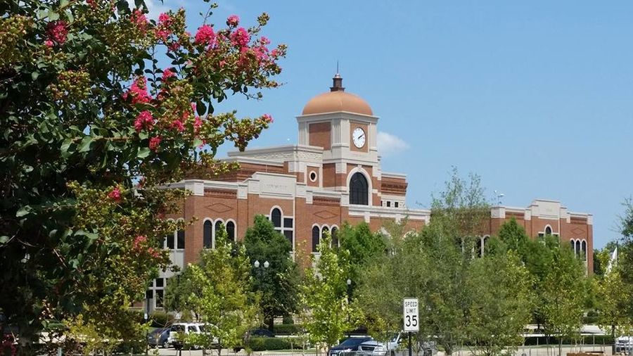 Architecture Building Exterior Built Structure City Government City Hall Lewisville, Texas Clock Tower Dome No People Outdoors Tree