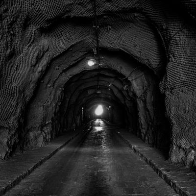 The Way Forward Tunnel No People Illuminated Mexico Outdoors Guanajuato Black & White Blackandwhite Old Town