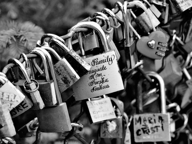 Locks by the Seine. Freshness Locked Locks Blackandwhite French Lock Locksoflove Love Lock Monochrome Padlock Seineriver Travel Destinations