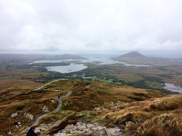 Ireland Connemara Connemara National Park Water Tranquil Scene Scenics Landscape Travel Destinations Tranquility Non-urban Scene Tourism High Angle View Cloud - Sky Beauty In Nature Mountain Sky Nature Sea Environment Island Aerial View Vacations Geology Perspectives On Nature