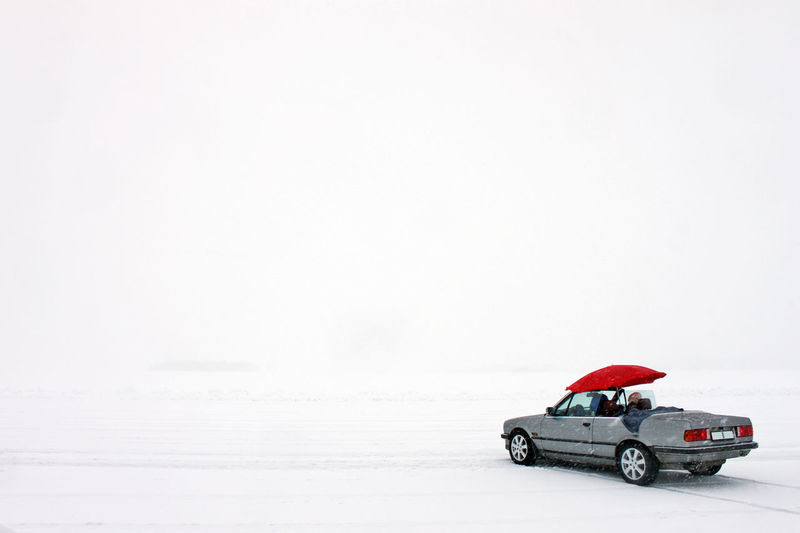 Bmw Cabrio Filming Foggy Frozen Lake It's Cold Outside Nature Onset Produceratwork Setlife Snow Sweden Winter Ice Winterwonderland Umbrella Private Bff