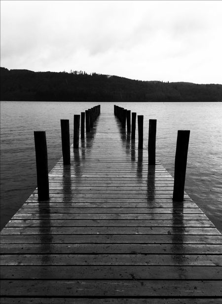 Lake Windermere Lake Lake View Jetty Blackandwhite Black And White Black & White Monochrome Landscape Leading Lines Water Waterfront EyeEm Best Shots EyeEm Best Shots - Black + White Capture The Moment Welcome To Black The Great Outdoors - 2017 EyeEm Awards The Great Outdoors - 2017 EyeEm Awards