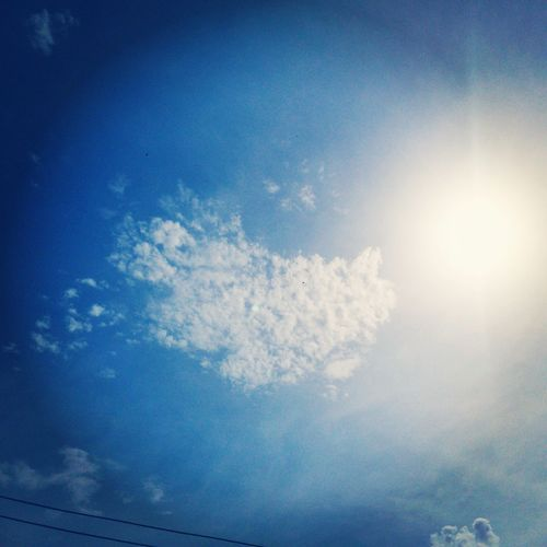 Blue Sky Sky Sunlight Sunny Day 🌞 White Cloud,