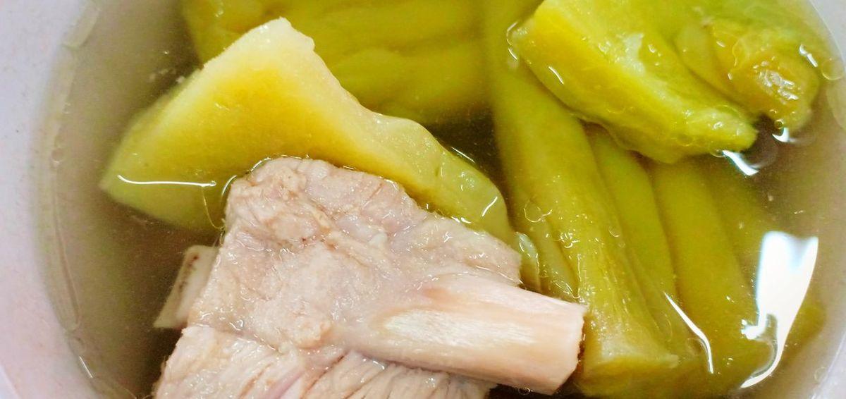 แกงจืดมะระ ซุป มะระ อาหารจีน แกงจืด China Food Pork Yellow Close-up Food And Drink Sour Taste