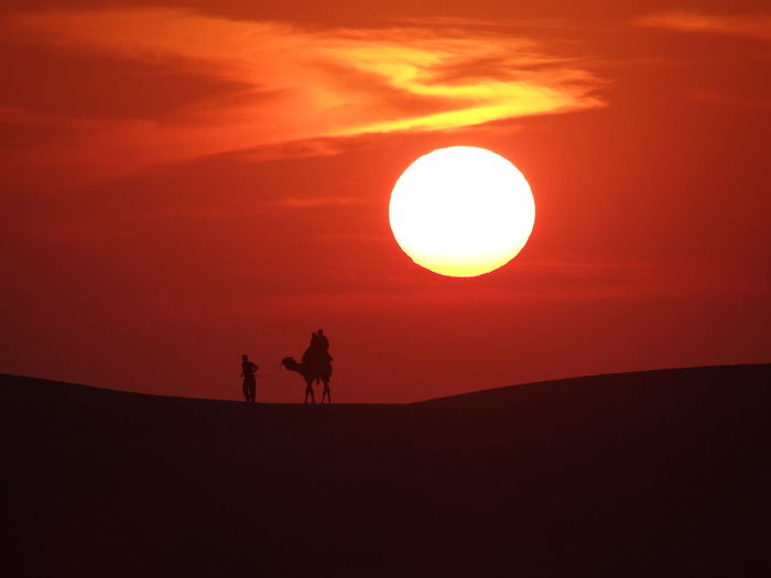 sunset view from sand dunes Sun Astronomy Sunset Red Orange Color Heat - Temperature First Eyeem Photo