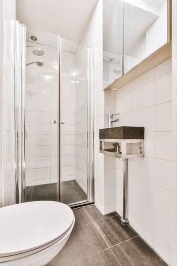 Corridor in bathroom at home