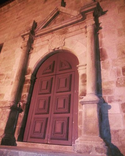 Church. Architecture Building Exterior Door Entrance Historic Façade Arched History Old Portugal Beautiful Lamego Douro  Churches