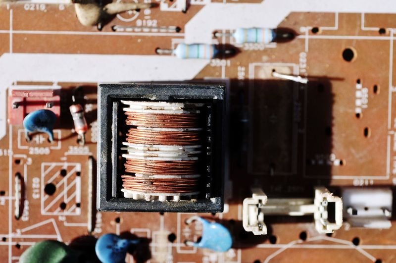 Part Of Electronics Industry Electrical Equipment PCB Electronic Illustration Technology Abandoned Close-up Bad Condition Deterioration Broken Circuit Board