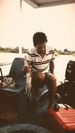 River boat tour Costa Rica Native Crocodile