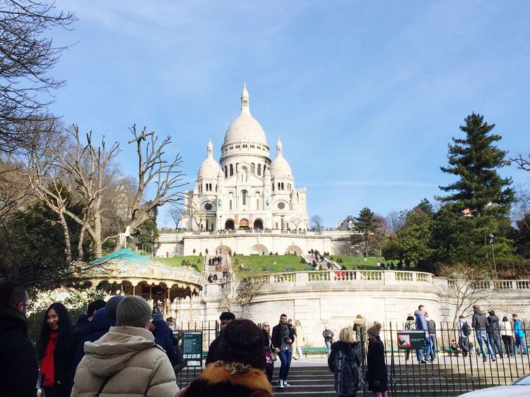 ⛪️ France Paris View City Beautiful Taking Photos Enjoying Life Monuments Hello World Relaxing Sacre Coeur Monmartre Sun Day Friends Sky Blue