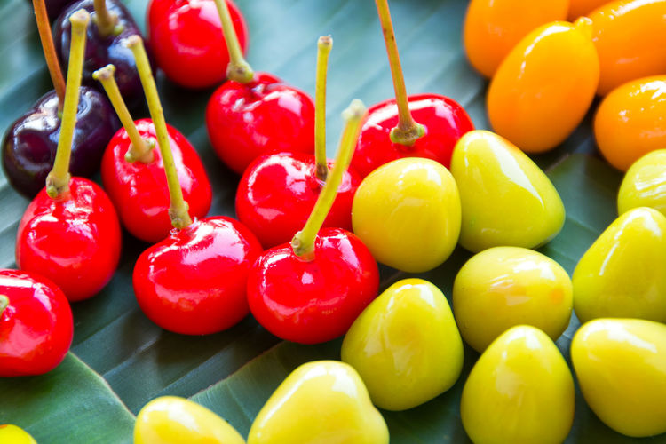 Deletable Imitation Fruits Thai Food Sweet Appetizer Cuisine Crispy Snack Tropical