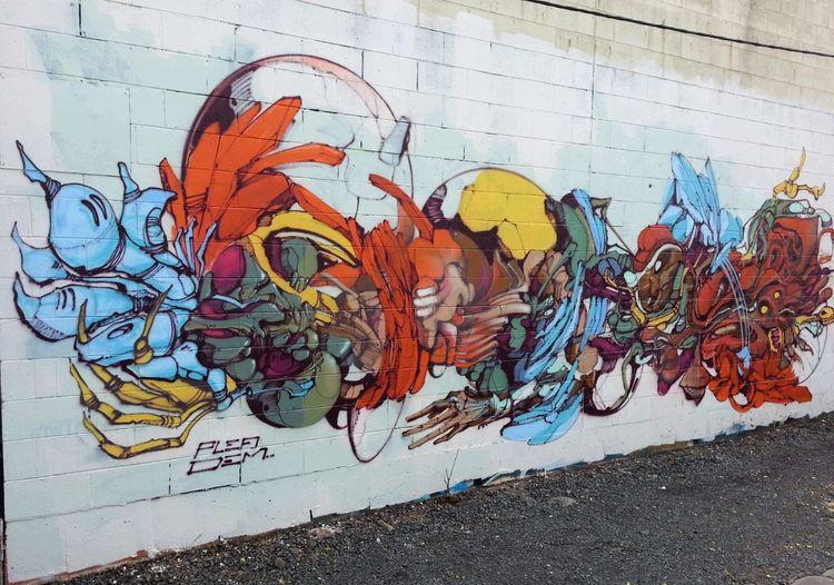 Graffiti by Dem189 & Plea Graffuturism