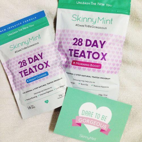 First try ! SkinnyMint Teatox Teatox Fitness Goal