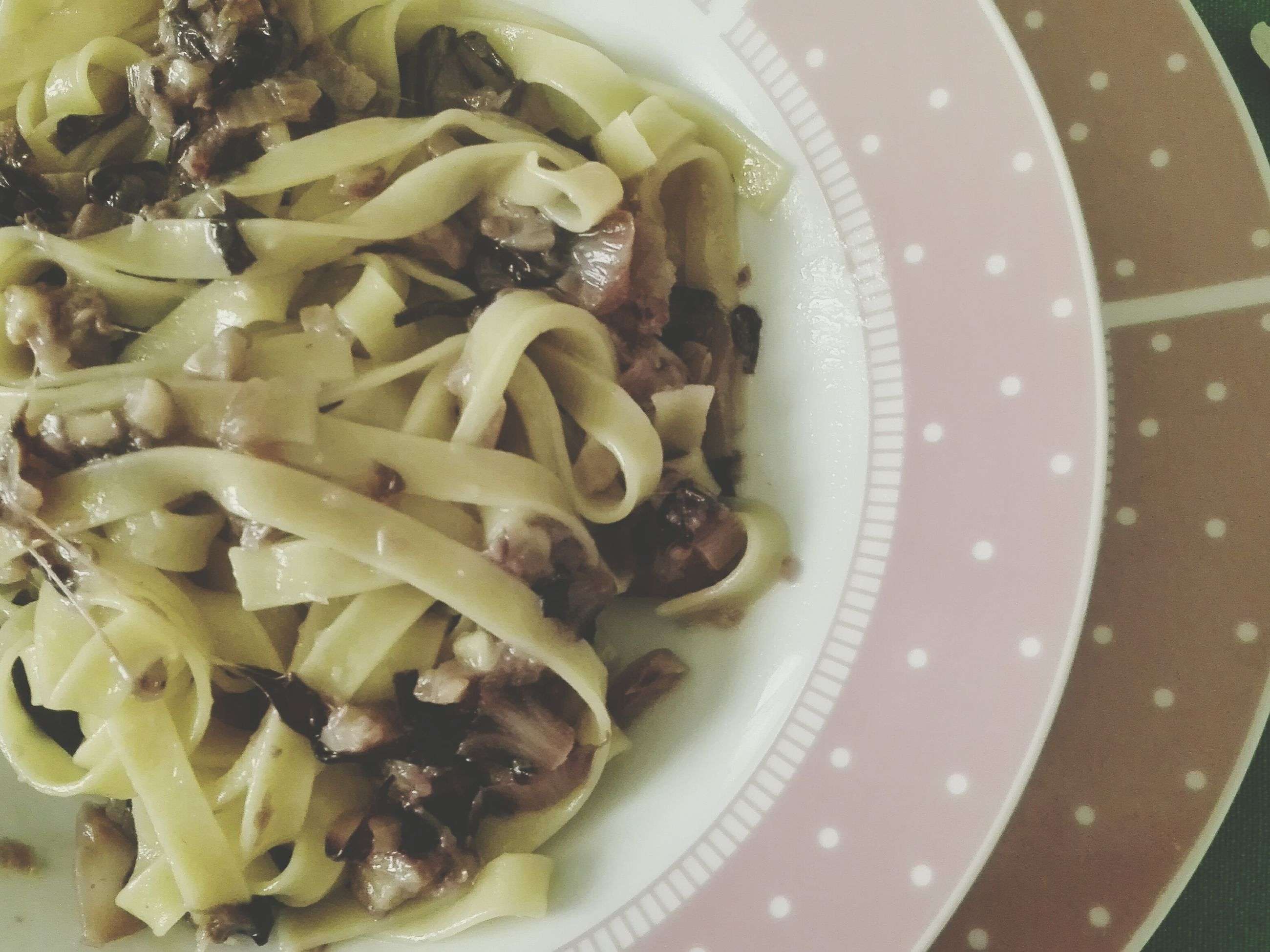 food and drink, food, freshness, indoors, ready-to-eat, healthy eating, plate, close-up, serving size, still life, meal, high angle view, bowl, indulgence, vegetable, pasta, table, noodles, meat, served