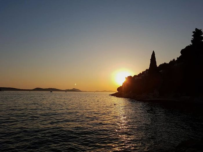 last moments of summer. Architecture Beauty In Nature Clear Sky Day Nature No People Outdoors Scenics Sea Silhouette Sky Spirituality Sun Sunlight Sunset Tranquil Scene Tranquility Travel Destinations Water Waterfront