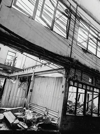 Demolish Demolished Demolished Building Demolished Structure Black And White Black And White Photography