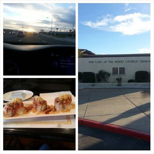 Beautiful day & sunset Sunday Church Sushi ChefAlex my friend hooked it up. Thanksbuddy