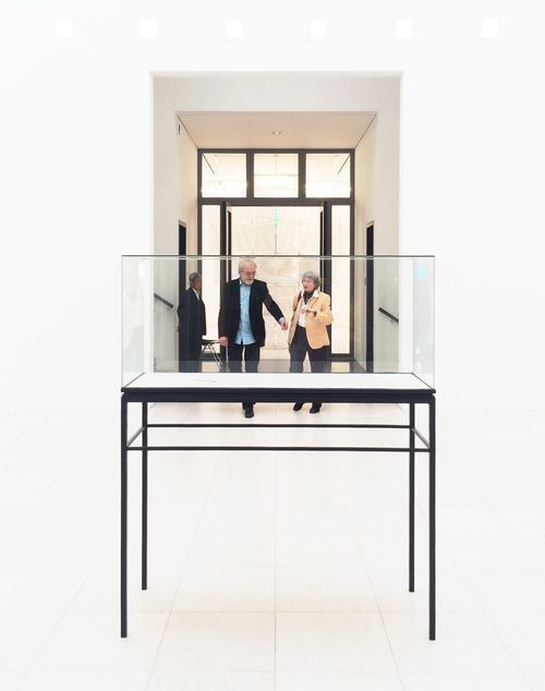 People In A Display Case. Series . Indoors  Window Two Is Better Than One Bright Finding New Frontiers Second Acts Display Museum Long Goodbye Rethink Things Break The Mold Architecture_collection Geometry Geometric Shapes Togetherness Together People Peoplephotography Couple Frame It! The Magic Mission Beautifully Organized Shootermag Stories From The City Visual Creativity The Street Photographer - 2018 EyeEm Awards The Architect - 2018 EyeEm Awards