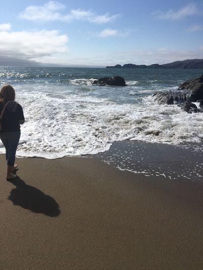 No Filter Beach Beautiful Day Sand Water Ocean San Francisco