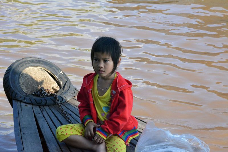 Vietnam Casual Clothing Childhood Floating Village Innocence Local People South Vietnam Water