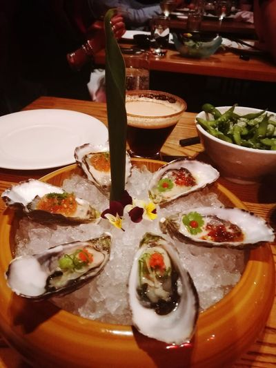 Food High Angle View Indoors  Food And Drink No People Bowl Freshness Nobu Nobu Sushi Restaurant Crown Casino Oysters Lover Oystershots Yummy😍 Yummy In My Tummy Yummyinmytummy