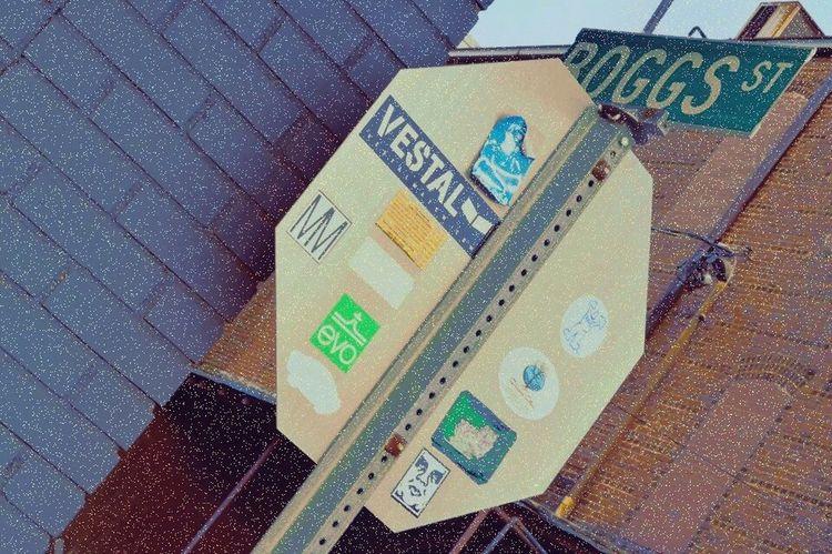 Close-up Stickers Stickers And Stickers Stickerseverywhere Stop Sign Yeahthatgreenville Alleyway Backstreets & Alleyways GreenvilleSC Home Is Where The Art Is Nikonphotography Nikon D3200 No People Photowalk Portfolio Portfolio Work