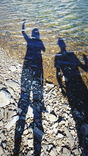Hanging Out Being Silly Enjoying Life Lake Quebec, Canada Murdochville Hi! Silhouettes Water Reflections Travelling Coco'sPics Lake Outdoors Rocks And Water