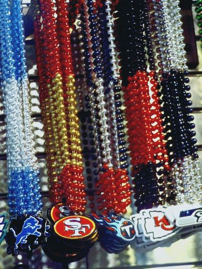 NOLA New Orleans Necklace NFL NFL Football Football Multi Colored For Sale Shop Display Various Retail Display