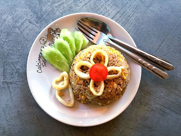 Plate Food Fried Rice With Egg Healthy Eating Freshness Food And Drink Thai Food Fried Rice Fried Rice With Seafood No People Ready-to-eat Day