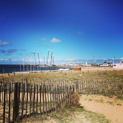 Blue Sky Sea Sailboat Sand Summer Fences
