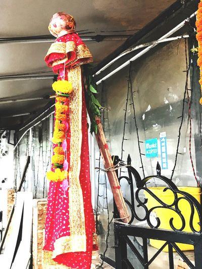 Gudi Padwa Maharastra Gudi Padwa Hanging Low Angle View No People Indoors  Day Illuminated