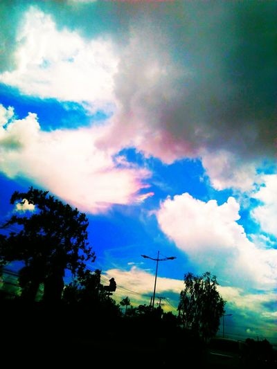 clouds of beauty Cloud - Sky Sky No People Scenics Beauty In Nature Day Outdoors Nature Simple Photography Sky And Clouds Life Deep Meaning Mood Captures Perfect Detailed Beauty In Nature Silhouette Sunset Low Angle View Love❤ Nature Happiness Red The City Light Blue And White Rainbow