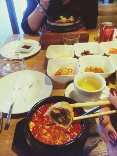 Eating With My Friend Enjoying Life Korean Food
