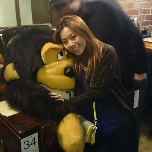 With the googly eyed gorilla. WorkLife 50centwingnight